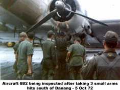 DNG-310 Aircraft inspection small arms hits - website