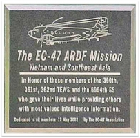 16-A plaque at AF Museum from EC-47 Association