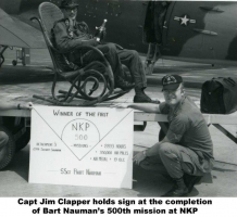Bart Nauman\'s 500th MSN@BKP Capt. Jim Clapper hods sign - NKP-589