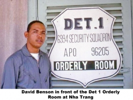 Det 1, 6994th Orderly Room, David L Benson, NT-286-1