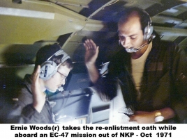 Ernie Woods reenlistment Oct 71 NKP