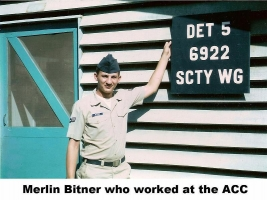 Merlin Bitner, who worked at ACC by Det 5, 6922nd SW, TSN-577-1