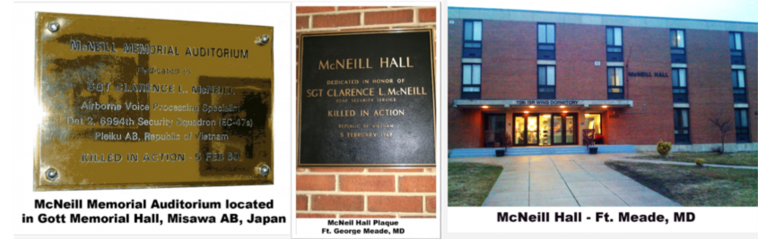 McNeill plaques - auditorium and dorm