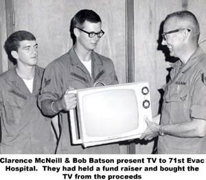 Sgt McNeill with TV photo